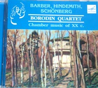 BORODIN QUARTET pl. Barber,Hindemith,Schonberg
