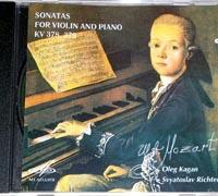 MOZART Sonatas Richter, piano, Kagan, violin