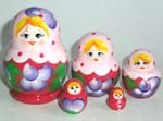 Traditional Russian nesting dolls