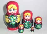 Lady w/ Flowers Russian dols