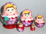 Traditional Russian nesting dolls