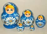 Flowers Russian nesting dolls