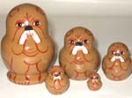Bulldogs Russian nesting dolls