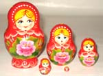 Flowers Garden Russian dolls