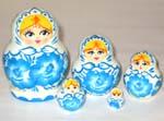 Gzhel Style Russian dolls