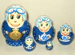 Tea-lady Russian dolls