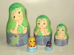 Little Mermaid Russian dolls