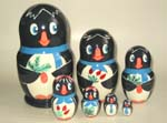 Penguins Russian dolls