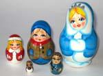 Snow Queen Russian dolls