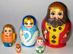 Tsar Saltan Russian dolls