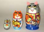 Cats Russian nesting dolls