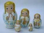 Angels Russian nesting dolls