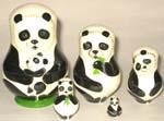 Pandas Russian nesting dolls