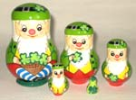 Irish Dwarfs nesting dolls