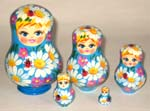 With Ladybird Russian dolls