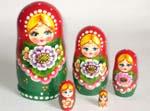 Flowers Garden Russian dolls