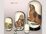 Seals Russian nesting dolls
