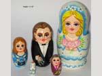 Wedding day Russian doll