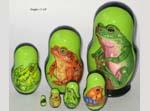 Frogs Russian nesting dolls