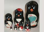 Penguins Russian dolls