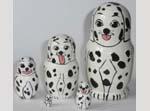 Dalmations Russian dolls