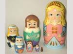 Cinderella Russian nesting dolls