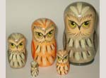 Owls Russian nesting dolls