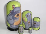 Hippoes Russian nesting dolls