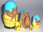 Camels Russian nesting dolls