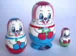 Rabbits Russian dolls